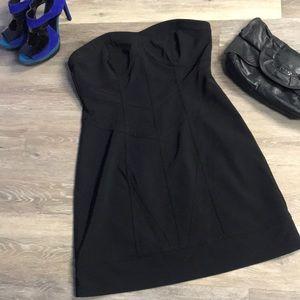 Kensie Structured Little Black Dress sz 10